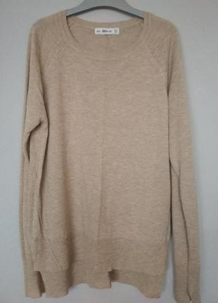 Базовый бежевый джемпер от zara knit1