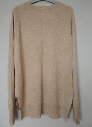 Базовый бежевый джемпер от zara knit3