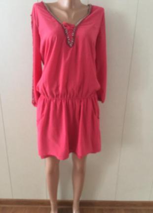 Платье из двойной ткани bershka s