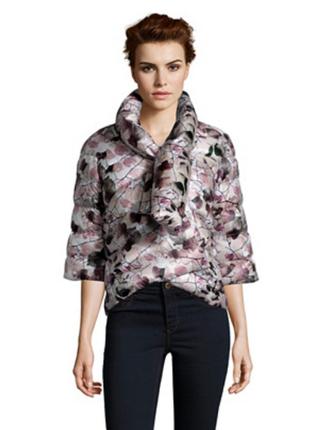 Новый. лёгкий пуховик add куртка/кимоно it42 италия нежный принт. укороченный рукав