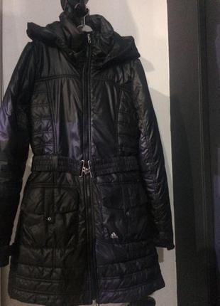 Куртка пальто adidas черного цвета