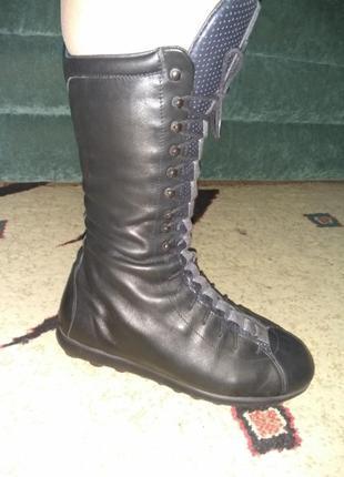 Сапоги, высокие ботинки кожаные