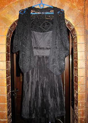 S(36)8 frenh connection. шикарное вечернее бюстье миди платье.