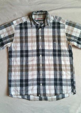 Рубашка мужская р l 41-42 р хлопок/лен