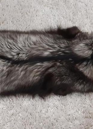 Воротник чернобурка
