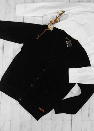 Черный мужской кардиган, кофта benson&cherry размер 48 наш