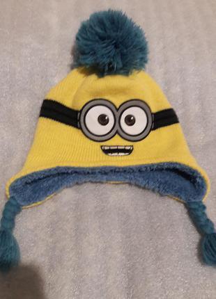 Теплая шапка миньон !!!