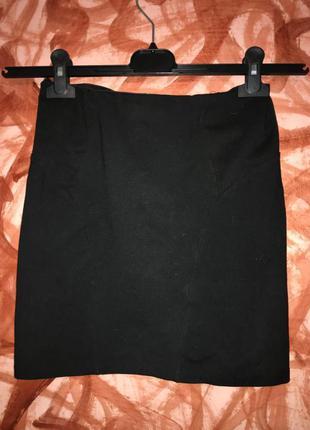 Мини-юбка трикотажная