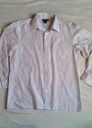 Мужская рубашка в мелкую полоску р м