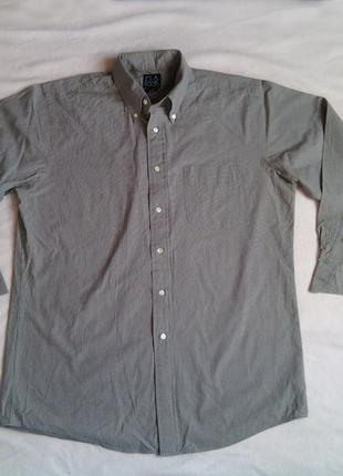Рубашка с рукавом мелкая клетка р 15,5 (33/39-40)