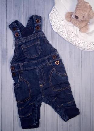 Прелестный моднячий джинсовый комбинезон на подкладке, 50- 56 см