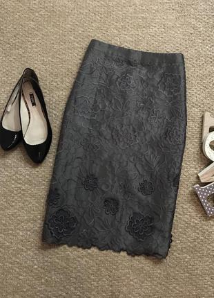 Шикарная юбка moonsoon с вышитыми розами