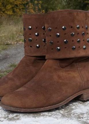 Круті стильні чоботи) натуральний замш