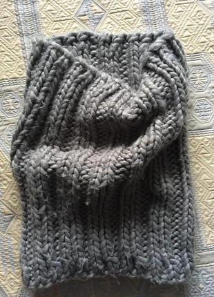 Мягкий теплый снуд шарф хомут