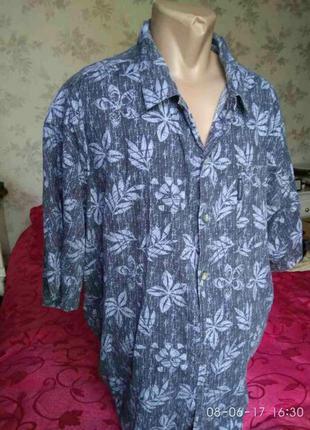 Гавайская мужская рубашка из сша, 100% коттон для жаркого лета,2xl
