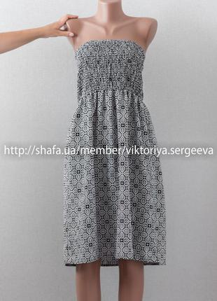 Огромный выбор платьев - красивый легкий сарафан, сарафан-бюстье в принт