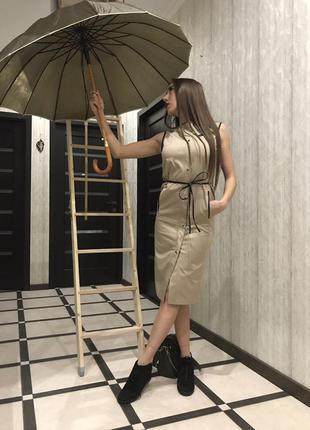 Платье в стиле милитари-сафари размеры xs/s/m