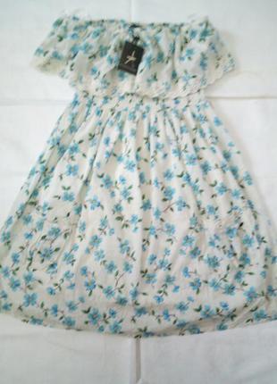 100% котон!!милое платье в цветочный принт с кармашками впереди atmosphere