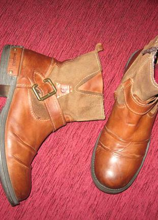 Кожаные деми сапоги, ботинки bugatti denim р.42, 28,5 см