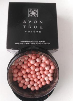 Пудра-шарики для лица с сияющим эффектом, румяна, avon true