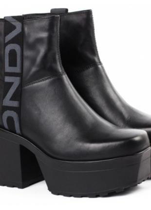 Ботинки на платформе кожа