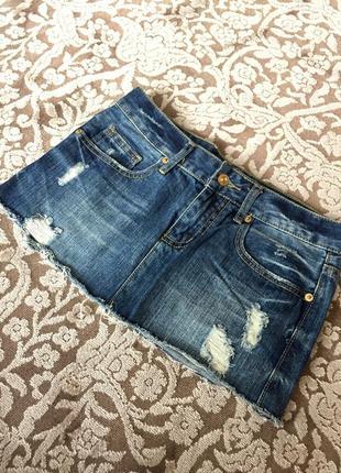 Юбка джинсовая , джинс. мини юбка