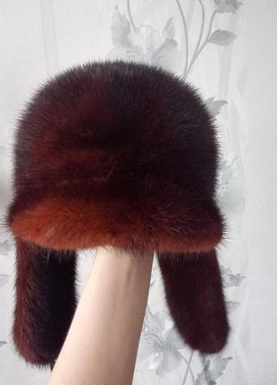 Норковая шапка фирменная
