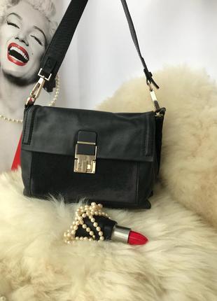 Роскошная эффектная кожаная сумка, натуральная кожа, мех, autograhp