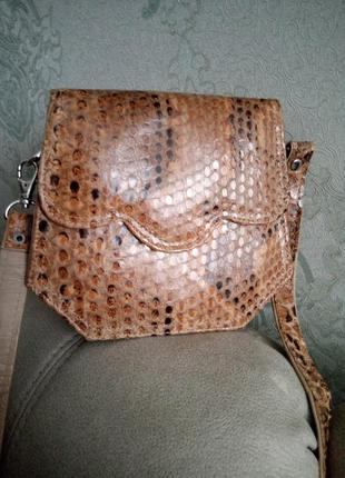 Шикарная сумочка из кожи змеи.