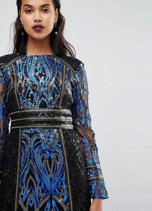 Asos boohoo premium роскошное платье все в пайетках эксклюзив доставка сутки
