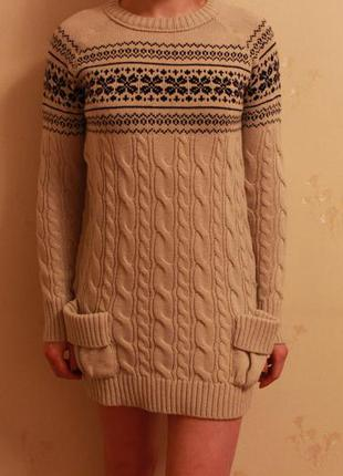 Короткое вязаное платье zara