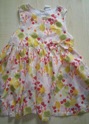 Платье h&m на рост 86 см.
