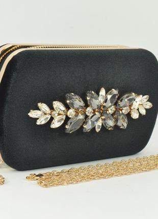 601d75bd2f3b Бархатный клатч rose heart 010 черный, сумочка на цепочке, цена ...