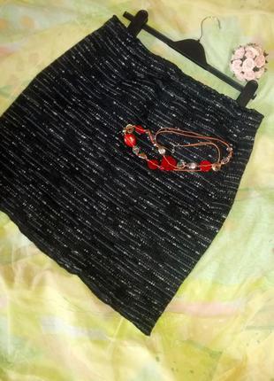 Теплая меланжевая трикотажная юбка,xxl-4xl,50-58разм..