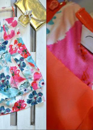 Полная распродажа!!! очень красивое яркое летнее платье-бюстье в цветочный принт new look