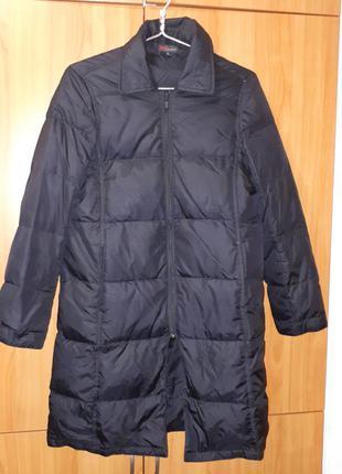 Брендовый пуховик massimo dutti пуховое пальто 90% пух 10% перо + подарок куртка
