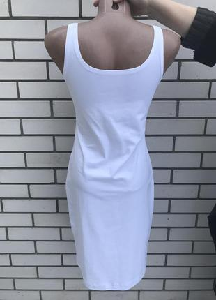 Платье-майка,белый сарафан с логотипом бренда levis по груди,хлопок 100%,3 фото