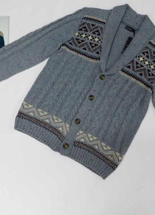 Модный меланжированный кардиган, кофта bona parte размер  l и xl