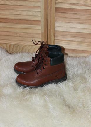 Шикарные кожаные ботинки timberland