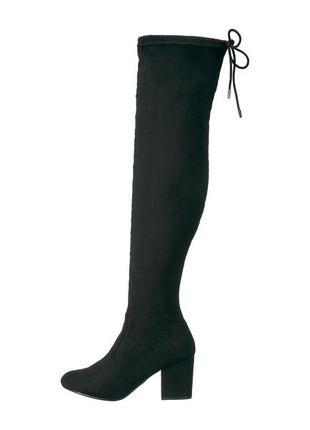 Report сапоги ботфорты на широком каблуке замшевые бренд оригинал из сша