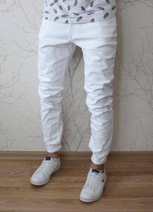 608727b3266 Мужские зауженные белые джинсы h m H M