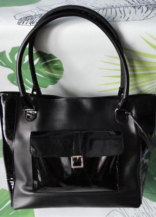 Вместительная женская сумка шоппер