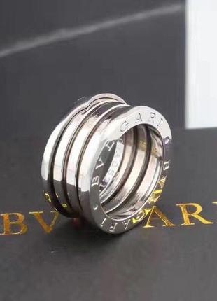 Кольцо в стиле булгари (zero1) пружинка белое золото 2123