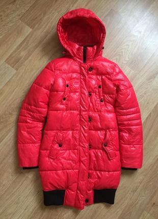 Пуховик куртка курточка пальто зимняя зима тёплое красный