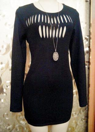 Эффектное мини платье h&m р 42-48+ пог 45-52