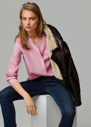 Роскошная шелковая рубашка / 95% шелк, 5% эластан