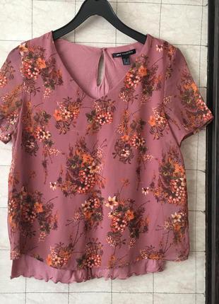Квітчаста блуза mango collection