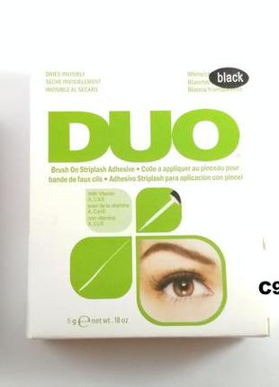 C940-2 черный клей для ресниц с витаминами 5 грамм, duo