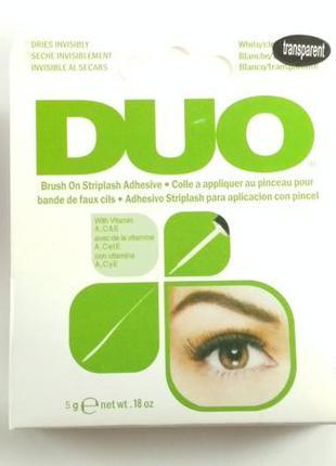 C940-3 прозрачный клей для ресниц с витаминами 5 гр, duo