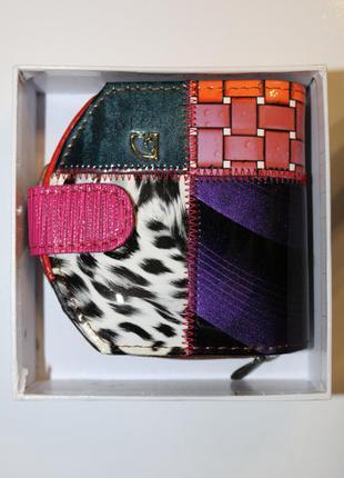 Яркий и стильный кожаный кошелек imperial horse, новый! в коробке!